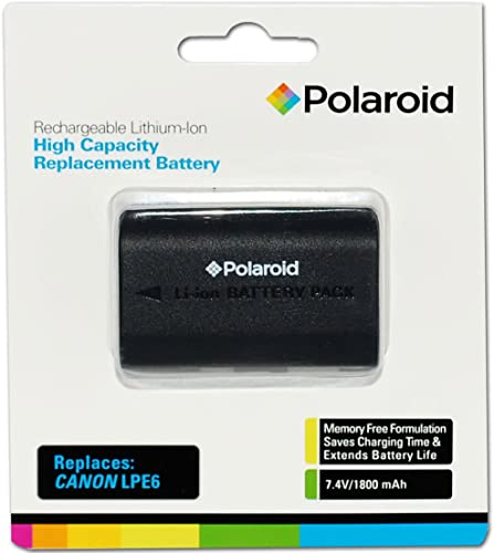 wholesale Polaroid High Capacity Canon LPE6 2021 Rechargeable Lithium high quality Replacement Battery (Compatible With: Canon EOS 5D Mark II, 7D, 60D) sale