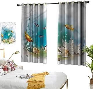Beaded Curtain Aquarium,Fishes Sea Plants Shells 72