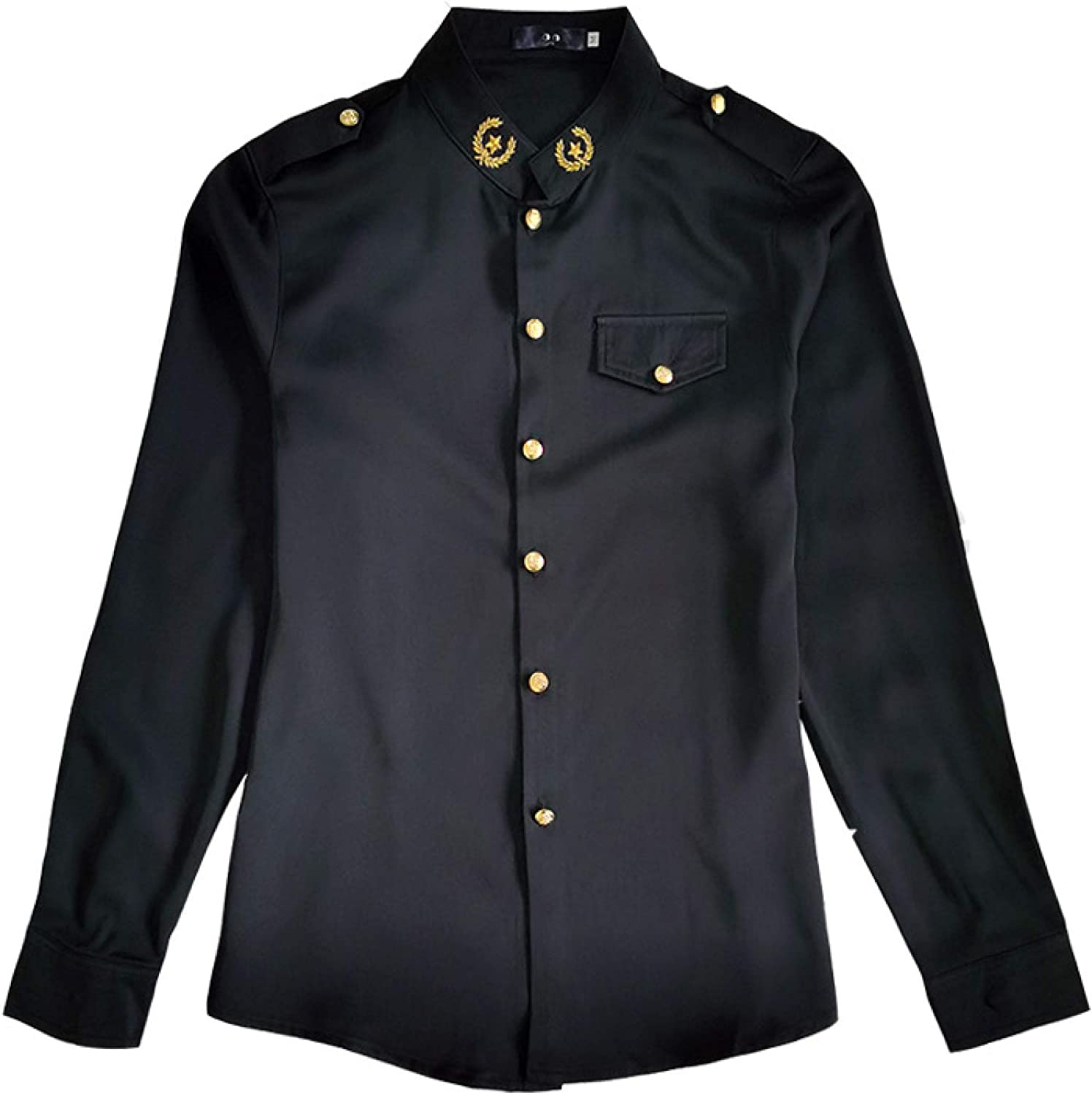 Men's Long-Sleeved Shirts Regular-fit Button and Max 58% OFF Soft Ranking TOP2 Decoration