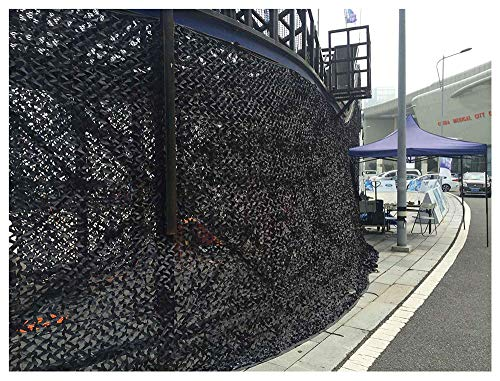 Terrasluifel zonwerend net, camouflagennet, schaduwmaker, luifels, isolerende overkappingen, tentdoek, zeil, geschikt voor militaire verborgen jacht, zwart, meerdere maten camouflage net zon 5 * 5M