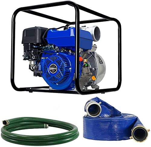 "DuroMax XP904WP-LHK 9 HP 427 CFM 3600 RPM 4"" Gas Engine Water Pump Kit"