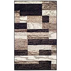 PLUSH AND SOFT FEEL: This modern rug is made of a soft, plush and comfortable polypropylene material, so it's cozy and family-friendly UPDATE YOUR HOME: This 8' x 10' area rug will look stunning in your living room, bedroom, or basement DURABLE MATER...