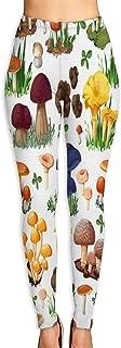 Cyloten Wild Mushroom Yoga Pants Vivid Printed Women's Non-Fading Sportswear High Elastic Leggings