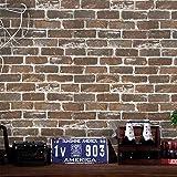 Papel pintado 3D de piedra marrón papel pintado fotográfico moderno revestimiento de pared piedra muro de pared realista ladrillo pared puerta salón muebles vinilo 45*500cm