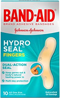 Band-Aid Hydro Seal Fingers, 10 Count(One Size) each (Pack of 2)