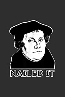 Notebook Planner Martin Luther Nailed It Reformed Theology: Goal, Personal Budget, 6x9 inch Notebook Planner, Meeting- Ove...