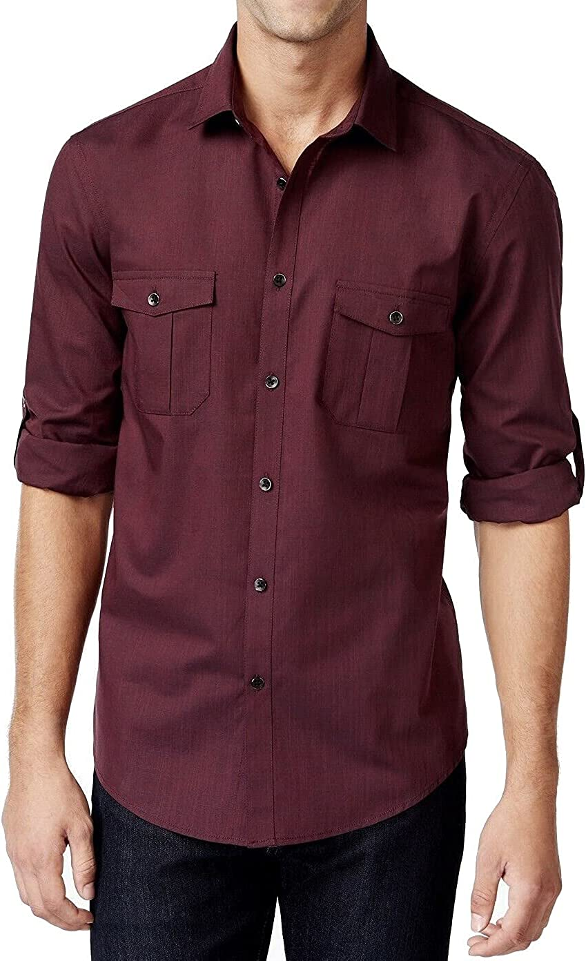 Alfani Men's Warren Long-Sleeve Button-up Shirt