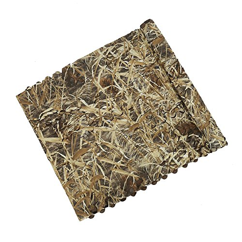 Auscamotek Duck Blind Material Camo Netting for Bird Hunting Boat Cover Camoflage Nets Dry Grass Pattern 5ftx20ft