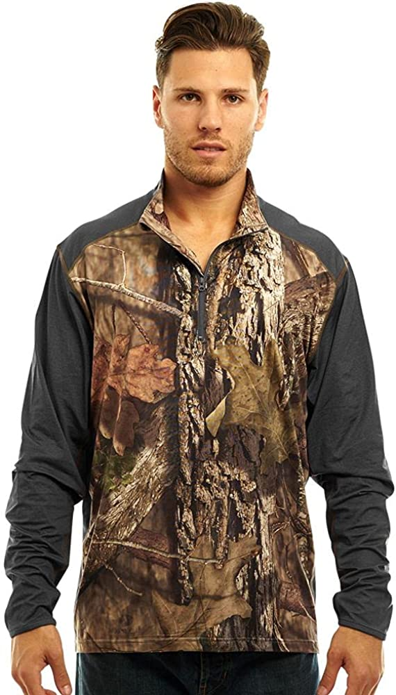 TrailCrest Men's Long Sleeve Lighweight 1 Oak Zip Mossy Max 75% OFF 4 Complete Free Shipping Huntin