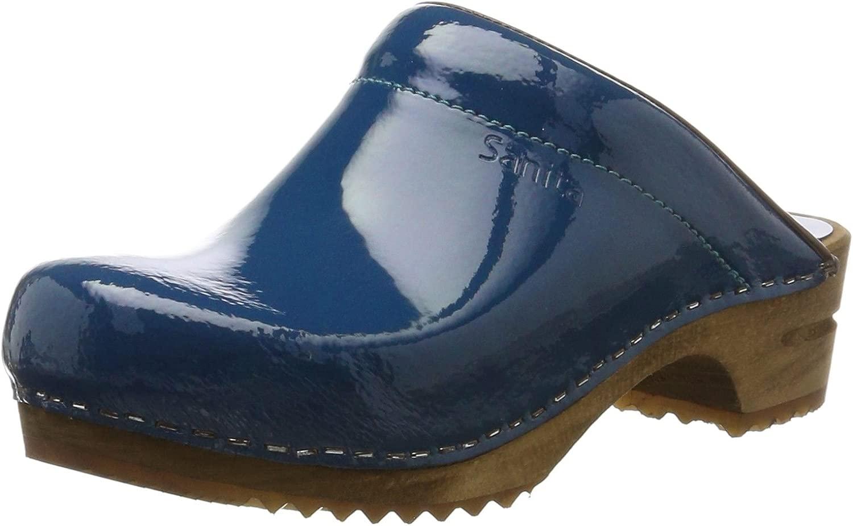 Damen Damen Classic Patent Open Clogs, Blau (Denim 5), 39 EU  bis zu 50% Rabatt