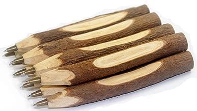 Gullor 10PCS Vintage Handmade Wooden Ballpoint Pen, School Supplies, Stationery Gift