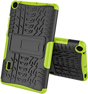 Boleyi Case for Huawei MediaPad T3 7.0, [Heavy Duty] [ Slim Hard Case] [ Shockproof] Rugged Tough Dual Layer Armor Case With stand function -Green