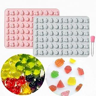 LaVenty 2 PCS Fruit Gummy Mold Mini Fruit Gummies Pan Ocean Gummy Candy Mold for Chocolate Jelly Ice Cube Pralines Caramel...