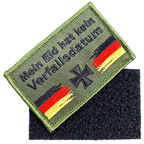 Deutschland Eisernes Kreuz Mut und Tapferkeit Patch Bundeswehr Mein Eid hat kein Verfallsdatum bestickt Aufnäher ca.8cm x 5cm