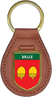 Valle Family Crest Coat of Arms Key Chains