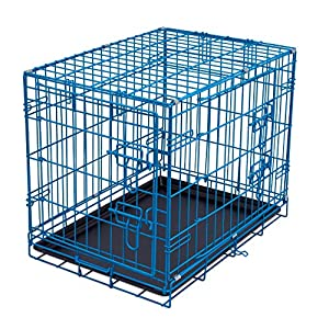 Internet's Best Wire Dog Kennel – Double Door Metal Steel Crates – Indoor Outdoor Pet Home – Folding and Collapsible Cage