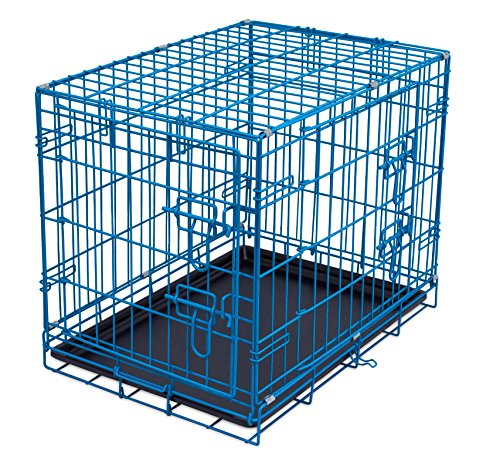 Internet's Best Double Door Steel Crates Collapsible and Foldable Wire Dog Kennel, 24 Inch (Small),...