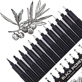 Micro-Pen, Fineliner Ink Pens, Black Fineliner Drawing Pen, Waterproof,Great for Artist Illustration, Sketching, Technical...