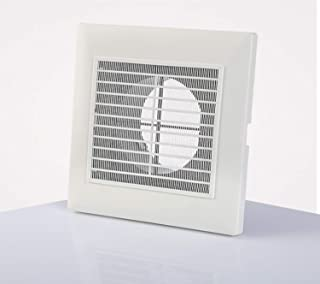 H&L 3Inch ABS Air Vent Soffit Vent Adjustable Square Louver ABS Intake Vent Grill Cover White for Home or Office with Fly Screen Mech
