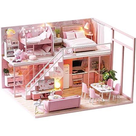 Vkstar Mini Casa De Muñecas Para Niñas En Miniatura Con Muebles Para Adolescentes Regalo De Cumpleaños Casa Creativa Juguetes Para Habitación Con Prueba De Polvo Y Movimiento Musical Toys