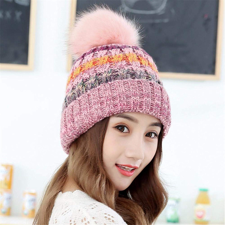 Chuangshengnet Winter hat female autumn and winter plus velvet knit hat earmuffs cap