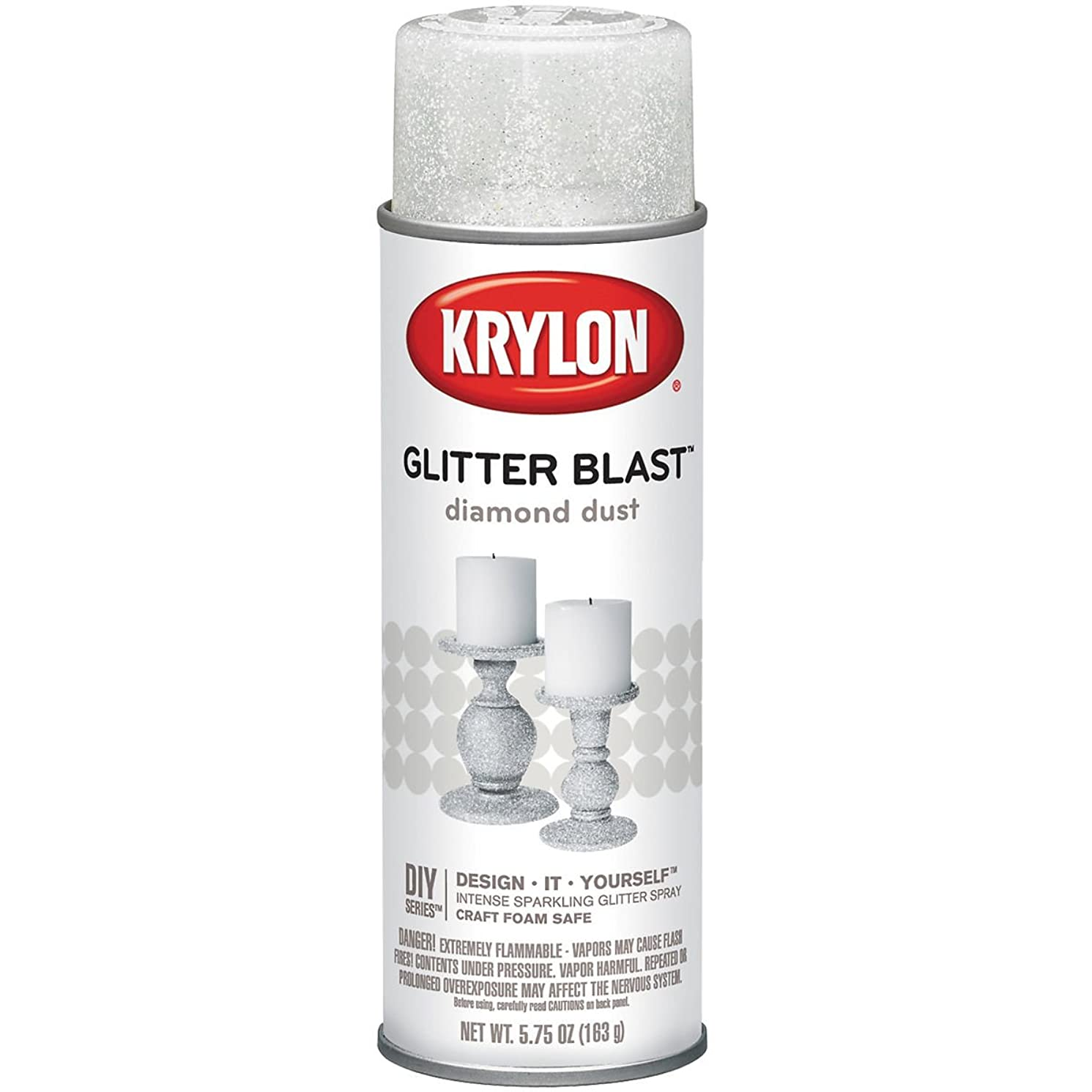 Krylon 3804 Glitter Blast Spray Paint Diamond Dust, 5.75 Ounce (6 Pack)