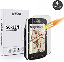 MWOOT Pack of 4 Screen Protector Glass Tempered Compatible with Garmin Edge 520 820, 9H Anti-Scratch HD Bubble Free Installation Glass Cover for Screen Protection-NOT with 520 Plus