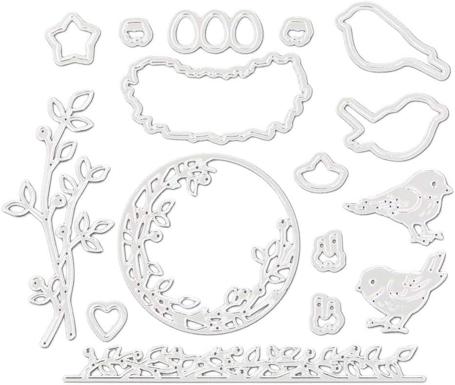 akaddy DIY Seal Magpie Cutting Die Pocket Decoration Kits Cutting Dies for Card Making 03 Cutting Die+Seal
