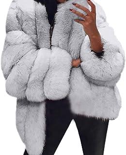 d09e569daebd36 BaZhaHei Giacca Donna,Giacca Donna Pelliccia Ecologica Inverno Moda Caldo  Manica Lunga Cappotto Donna Taglie