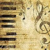 20 Servietten Klaviertasten & Noten als Tischdeko für Liebhaber von Musik 33x33cm