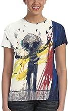 Steven Wilson Drive Home Camiseta Deportiva de Manga Corta con Cuello Redondo para Mujer