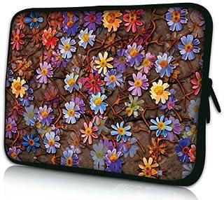 Luxburg® Design Funda blanda para ordenador portátil (15,6pulgadas, motivo: alfombra de flores