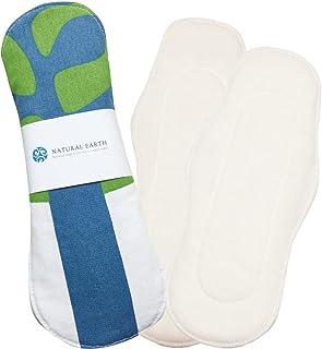 NATURAL EARTH [ナチュラルアース] 布ナプキン初めてセット パッド型 手作り 布ナプキン 防水布付き 【ウッズホワイト 7点セット】 <防水布を使用していますのでモレずに安心!>