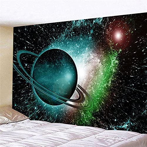 Tapiz Pared Planeta Galaxia Tapiz Decoracion Habitacion Poliéster Tapices de Pared Decoracion Pared Dormitorio Sala de Estar Tapestry Aesthetic Room Decor 75x100cm