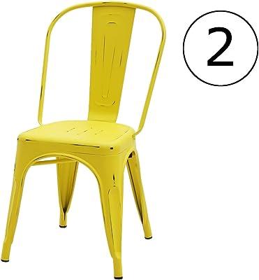 ArredinItaly - Juego de 4 sillas industriales Tolix - Réplica de ...