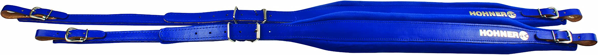 Hohner ACC7 BLUE Accordion Leather Straps (Blue)