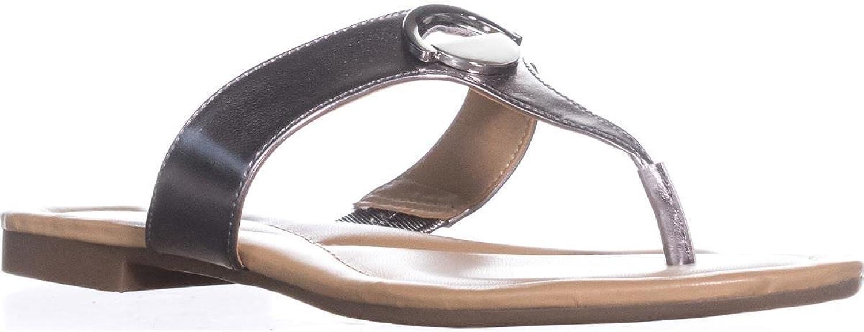 Alfani A35 Holliss Flat Thong FILP Flop Sandals, Lead, 6.5 US