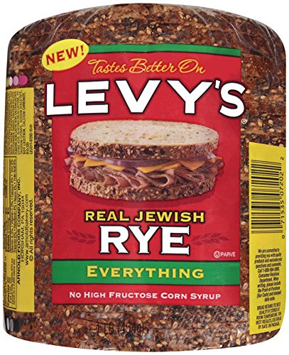 Levy's Real Jewish Rye Everything Bread, 1 Pound!