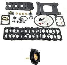 3-200 Carburetor Rebuild Kit 37-119 and 135-4 Vacuum Secondary Diaphragm for Holley Vacuum Secondary CFM fit 390-750 cfm 3906 0750 1841849,1850,3310, 6619,80463,80529 ROAD DEMON JR tm, ROAD DEMON tm