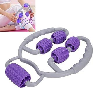 Rodillo de masaje de tubo de estufa, rodillo de masaje palo de masaje con 5 rodillos de masaje rodillo de punto gatillo, relajar los músculos de las piernas yoga equipo de fitness