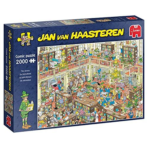 Jumbo 20030 Jan Van Haasteren-Die Bibliothek-2000 Teile Puzzlespiel, Mehrfarben