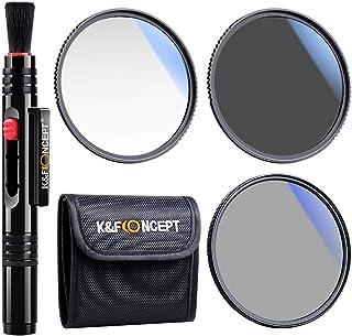 K&F Concept 49mm UV/CPL/ND Professional Lens Filter Kit (3 Pieces), UV Filter + Circular Polarizing Filter + Neutral Densi...