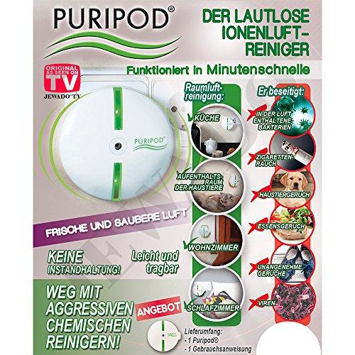 PURIPOD® - de geluidloze ionen-luchtreiniger binnen enkele minuten - origineel uit de tv-reclame
