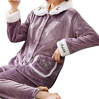Mujeres Pijamas Franela cálidos Set Pijamas Mujer Pijamas De Invierno Damas Ropa De Casa Pijamas De Franela Gruesa