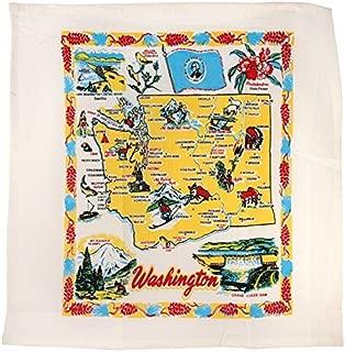 Redandwhitekitchen Washington State Souvenir Dish Towel