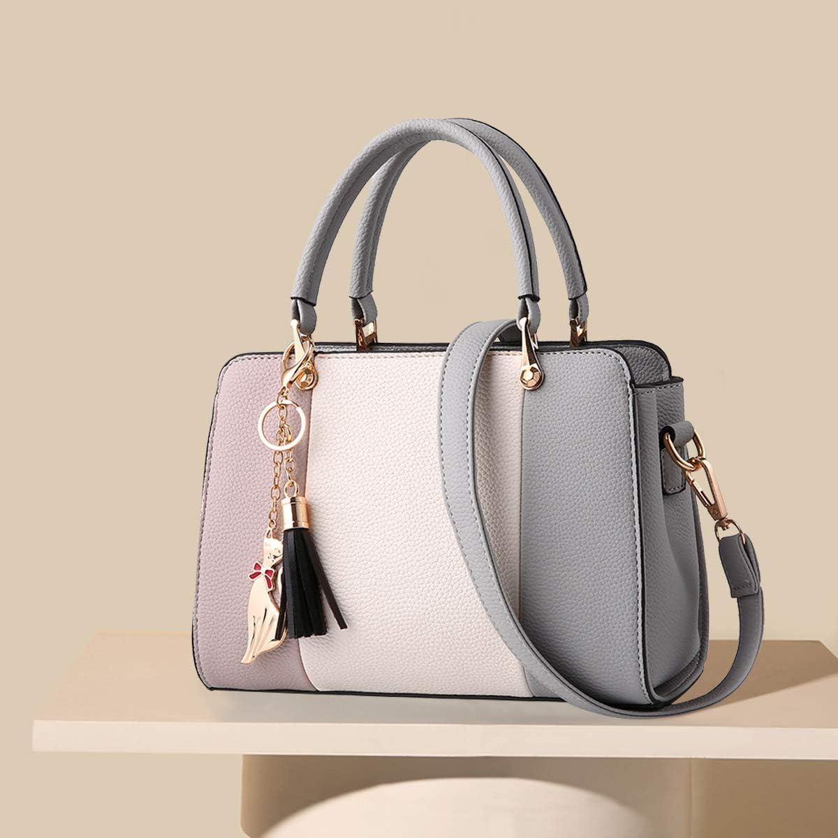 NICOLE/&DORIS Women Handbags Tassels bags Designer Top Handle Shoulder Bags Tote Crossbody Bag for Ladies PU Leather Bag With Pendant