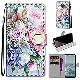 SATURCASE Coque pour Nokia G20 / Nokia G10 / Nokia 6.3, Belle PU Cuir Flip Magnétique Portefeuille...
