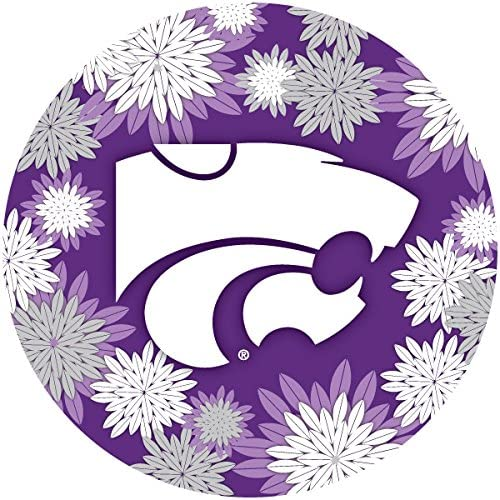 R and Imports Kansas State New products, world's highest quality popular! Wildcats Round Inch Floral Dedication Magnet 4