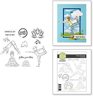 Spellbinders Simply Breathe Clear Stamp Set