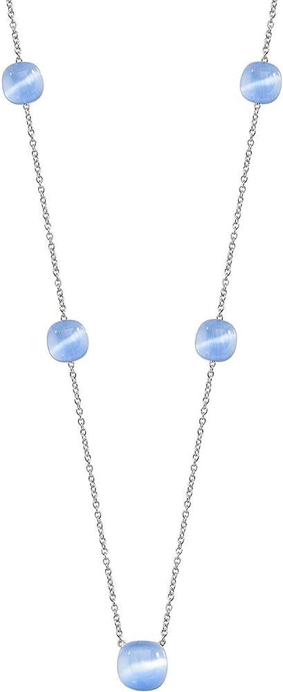 morellato,collana pendente donna,in argento 925 con inserti in pietre cat eye sakk09